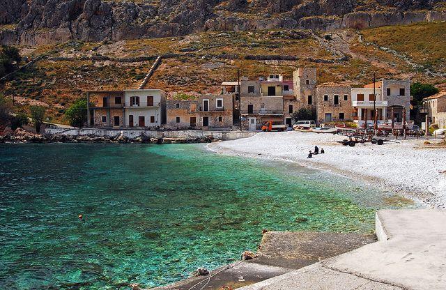 Gerolimenas - the - Mani area of the Southern Pelepanese - Greece    Mani 46 - Town Beach, Gerolimenas by S.R. Photos, via Flickr