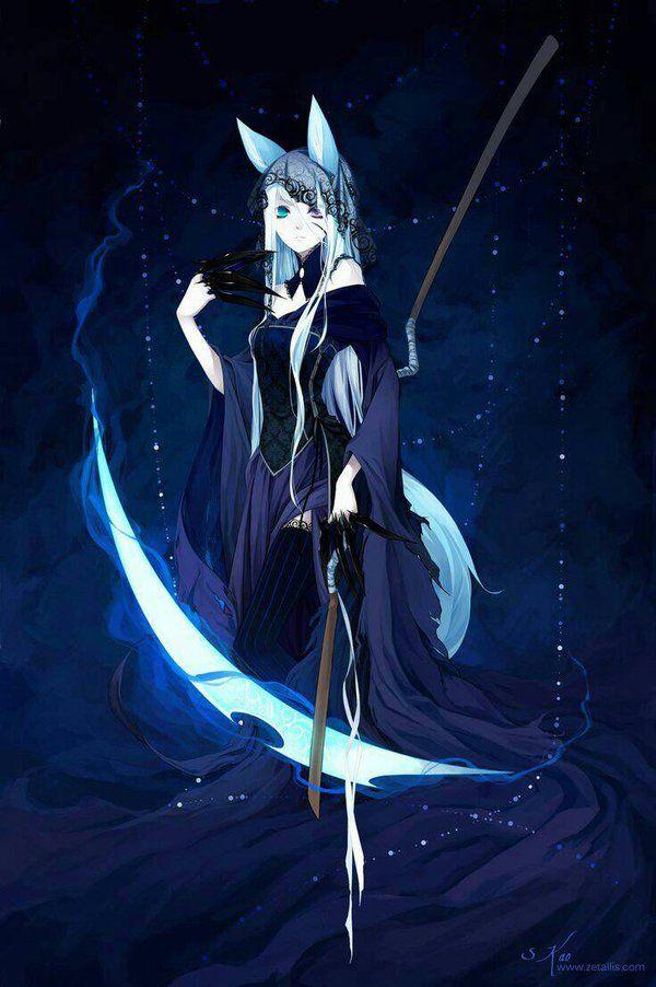 Anime wolf girl reaper by yukikomisuto.deviantart.com on @DeviantArt