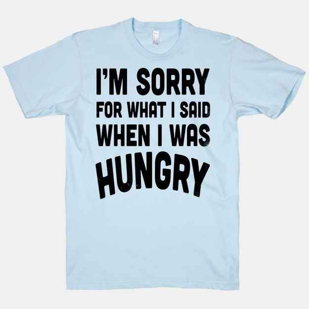 Because if the problem isn't addressed, things get ugly.   29 T-Shirts That Understand Exactly How You Feel About Food