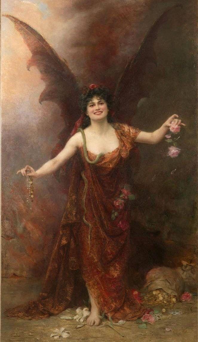 "starxgoddess: "" Madam Satan. Seduction, 1904 by Georges Achille-fould """