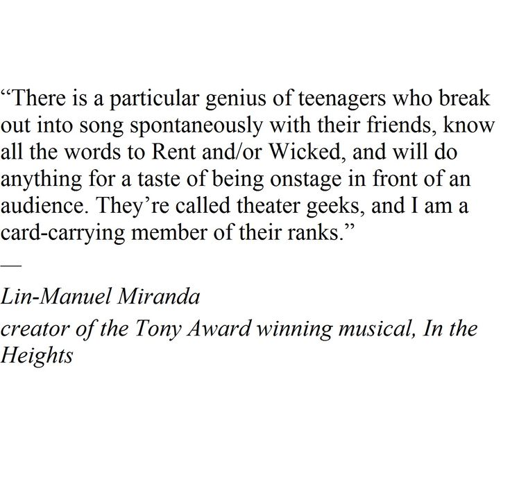 Lin- Manuel Miranda just knows.