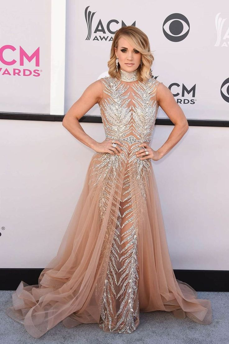 Singer Carrie Underwood wore the Gracious Bezel diamond band to the 52nd Academy of Country Music Awards on April 2, 2017 in Las Vegas, Nevada.