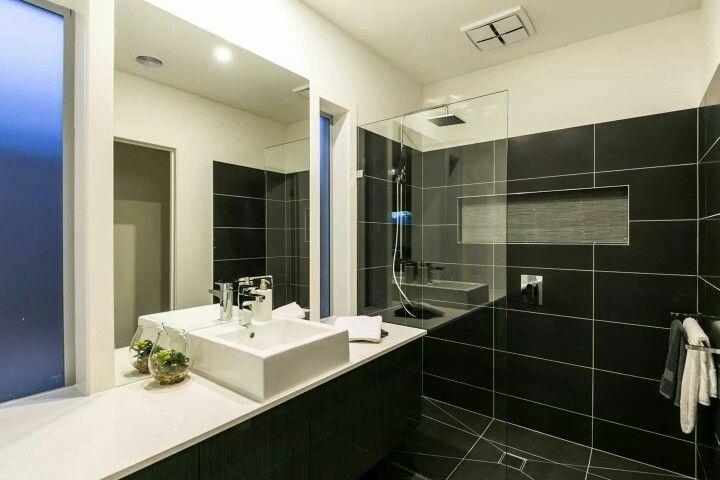 """""""Curlewis"""" en suite #ensuite #bathroom #black"""