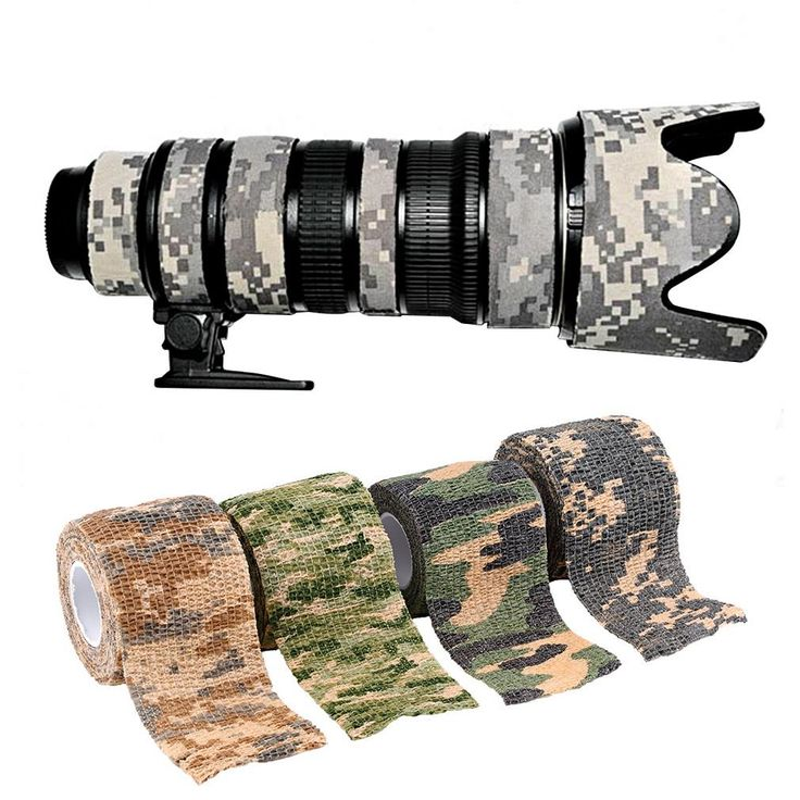 2016 wholesale 1 Roll Camo Stretch Bandage Camping Hunting Camouflage Tape for Gun,Cloths New Arrival