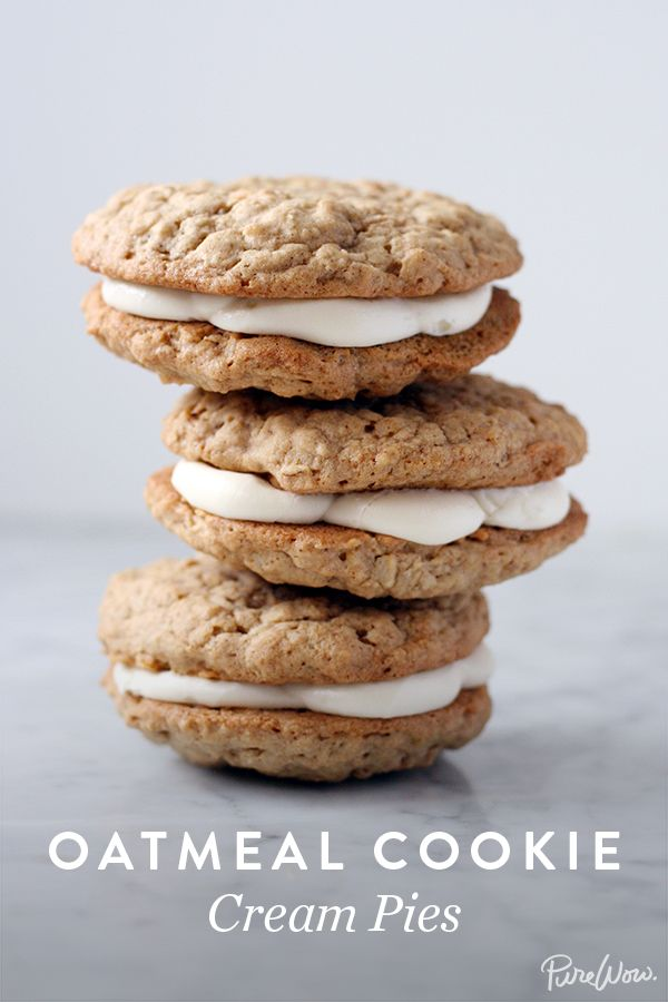 Oatmeal Cookie Cream Pies. A healthy way to feed your sweet tooth.