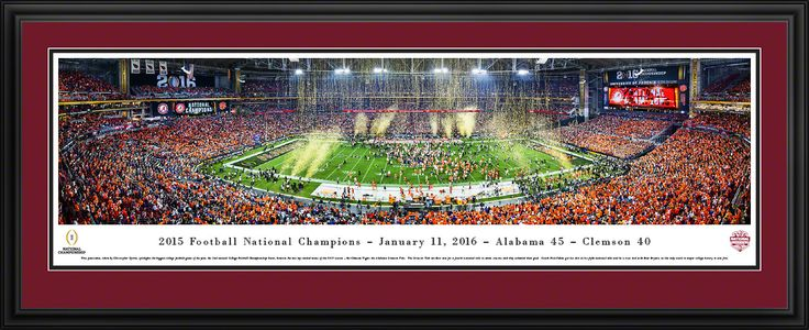 2016 CFP Panoramic Picture - College Football Playoff Championship Poster