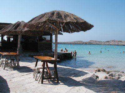 Binibeca beach bar - fond fond memories from childhood - just as I remember