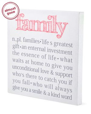 Family Canvas Wall Art want for xmas tj max