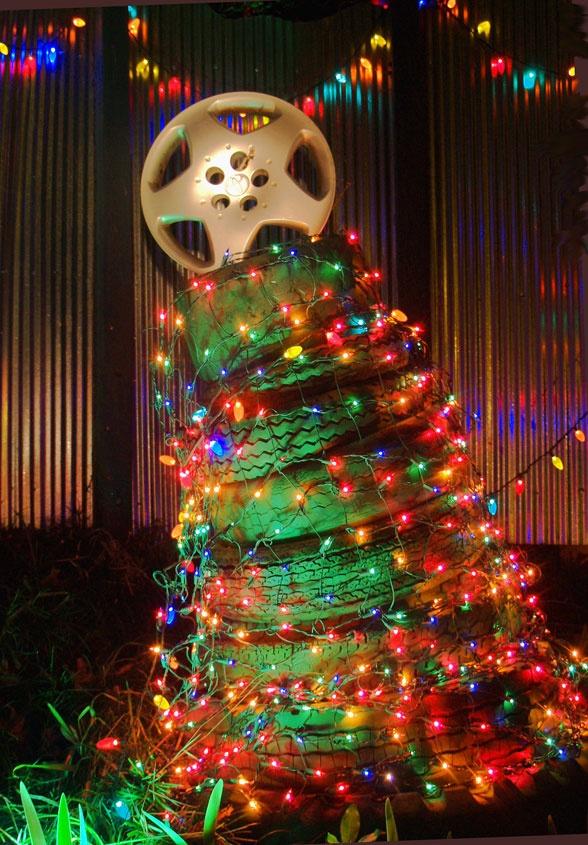 Árbol de #Navidad para los muy fan del #Automovil