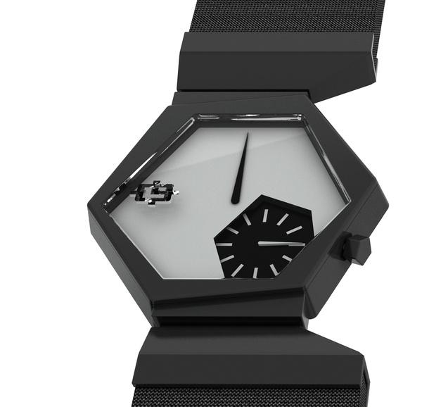 EXA Wristwatch by Cla Tschenett