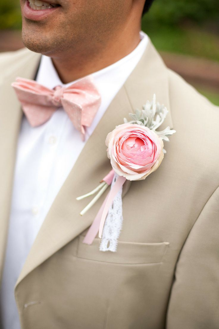Pink for the groom