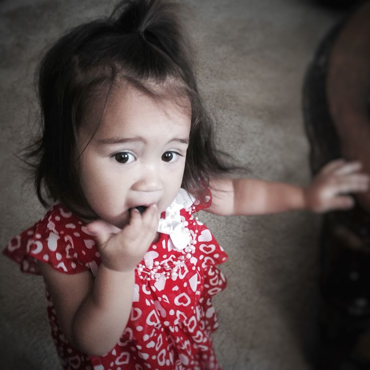 Half Asian baby eating blueberries (Burmese and white mixed).... Bella