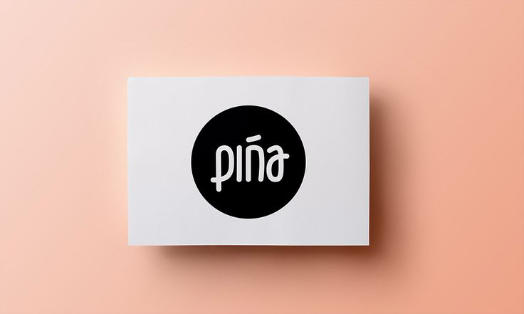 Pińa - wooden jewellery producer logo - by Lotne Studio