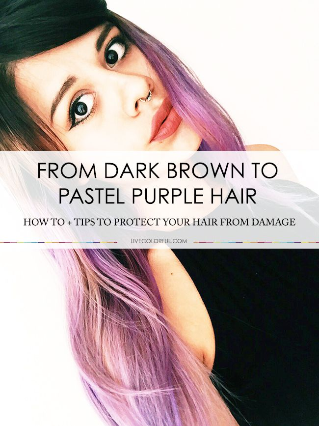 how to from dark brown to pastel purple hair pastel