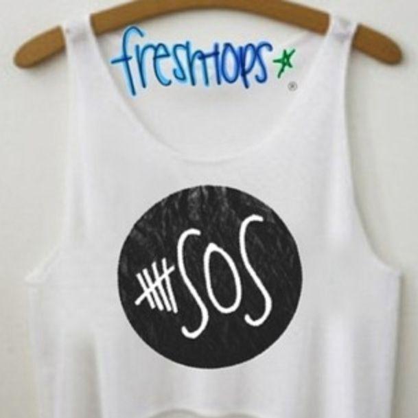 Freshtops has 5SOS shirts! <3<3<3☺☺☺✌✌✌
