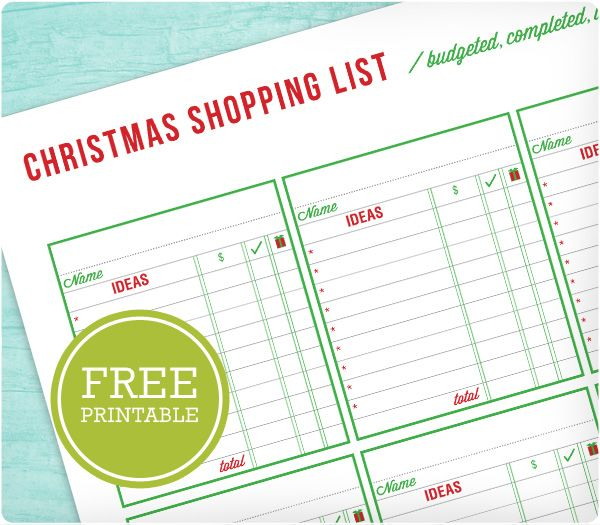 183 best Christmas Planner Printables images on Pinterest