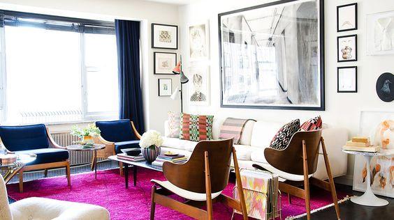 Verwendung des Farbkreises in der Dekoration   – Living room