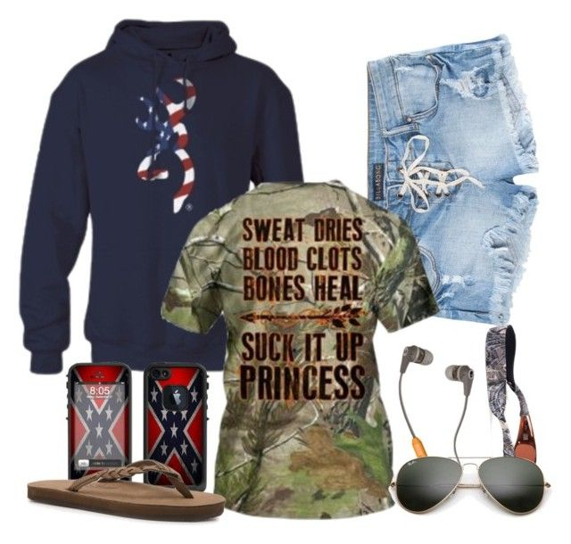 """""""Redneck girl"""" by munchiie99 ❤ liked on Polyvore featuring LifeProof, Billabong, Rainbow, Realtree and Ray-Ban"""