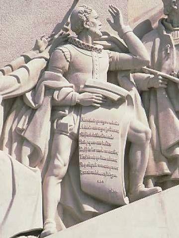 Luís de Camões representado no Monumento aos Descobrimentos,  Lisboa