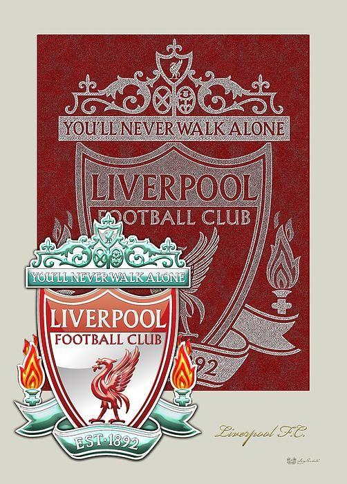 Liverpool F.C. Logo and 3D Badge fine art print by C.7 Design Studio