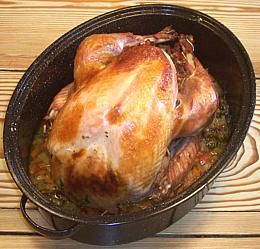 Turkey covered enamel roaster method. This is the most detailed recipe I have found for preparing a turkey