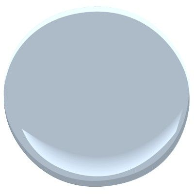 Benjamin Moore November Skies: blue with gray undertones, can be quite blue in some lighting,an almost periwinkle shade, this cloudy gray has a purple undertone