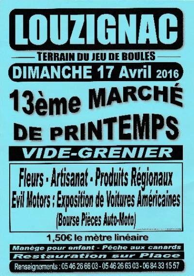 affiche 13ème Marché de Printemps et Vide-Grenier