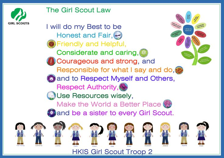 hkis girl scouts  daisies troop 2 girls scout law girl