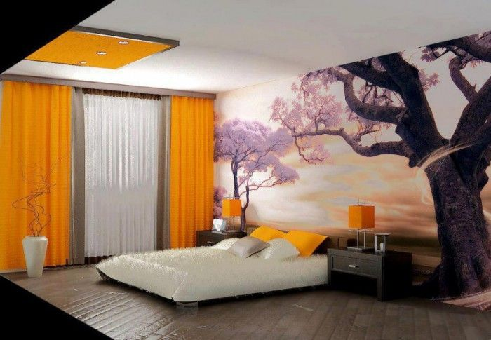 Bedroom with an unusual design.