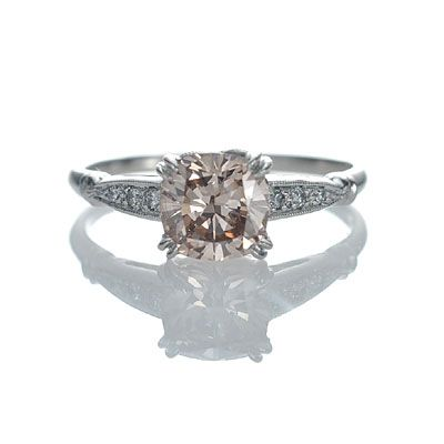 New York, NY Jewelry, engagement rings - Leigh Jay Nacht - Replica Art Deco Engagement Ring - 3082-07