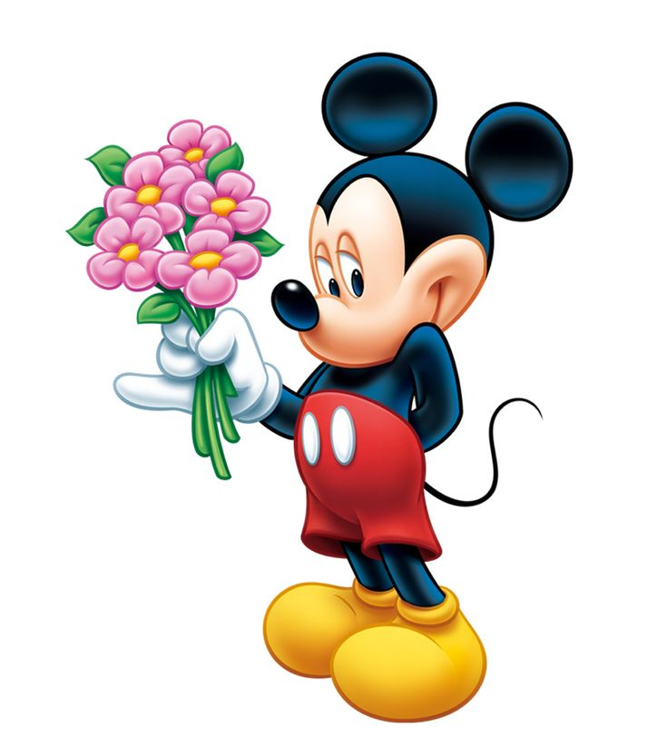 Mickey Mouse Pictures Flowers #7520 Wallpaper | Cartoonesia.