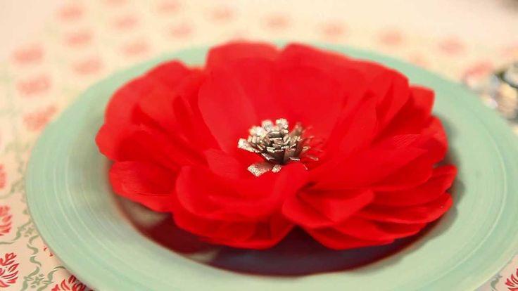 FLOWER PAPER DIY #video #tutorial #flower #decoration #tablesetting #tabloidnova
