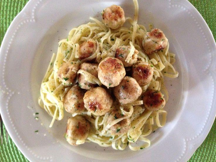#tagliolini con #polpette di #pesce #spada #tagliolini with #meatballs #swordfish