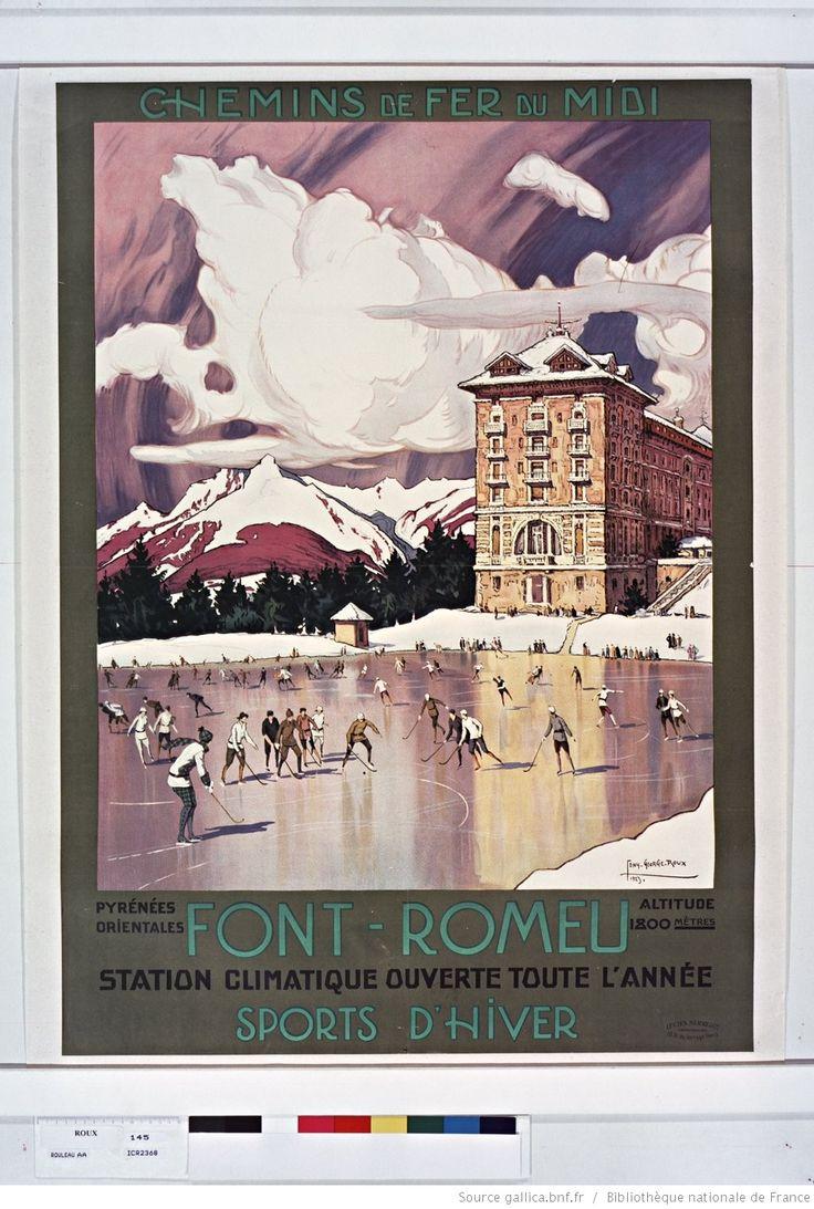 Chemins de Fer du Midi..Font-Romeu, altitude 1800 m, station climatique. Golf, tennis, sports d'hiver : [affiche] / Tony-George.Roux