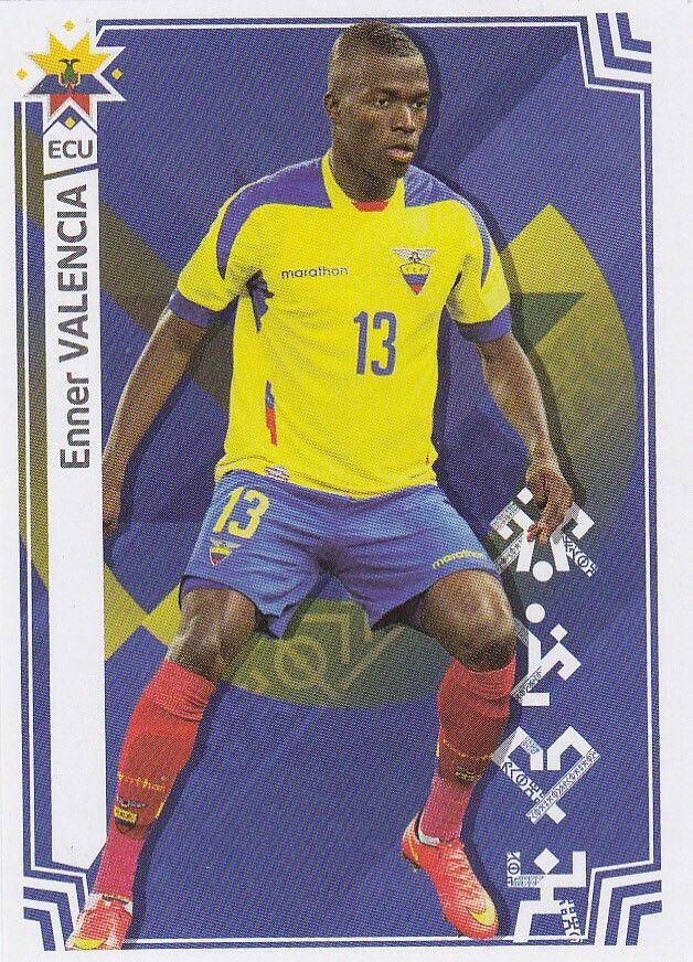 Enner Valencia of Ecuador. 2015 Copa America card.