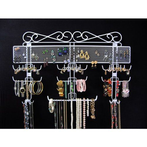 http://103rdavenue.com/organizing-jewelry-valet-white-14-5h-x-23-75w-x-2-375d/ The Organizing Jewelry Valet is the ultimate hanging jewelry organizer, ready to store hundreds of jewelry pieces, keeping them tangle-free and ready for easy access! Made of coated wire, this over the door jewelry rack can be wall mounted or used over the door with the included hooks. Assembly level/degree of difficulty: Moderate.: 145H, 2375D, The Doors, Idea, Valet White, 2375W