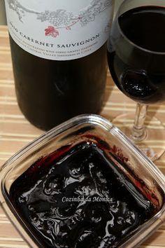 Geleia de vinho tinto