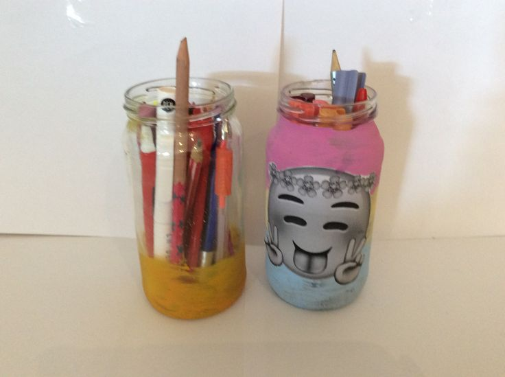 Mason Jar Pencil Jar made by Lindsey Wood
