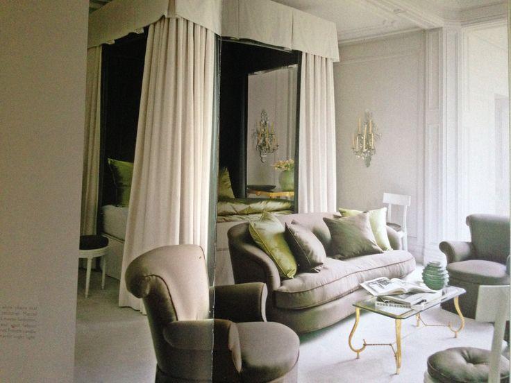 Green for the bedroom. Good Feng Shui #simplicity #nancybraithwaite #green