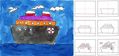 How to Draw a Cruise Ship
