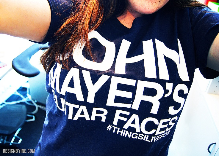 "John Mayer - I want this shirt! ""John Mayer's Guitar Faces"" #ThingsILiveFor"