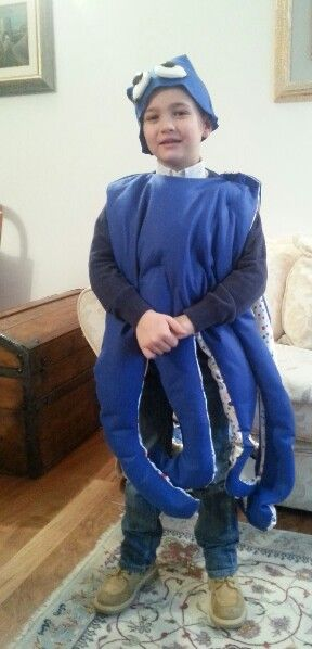 octoous costume#vestito da.polpo#diy octopus felt costume#boy#♡♥♡♥♡♥♡♥♡