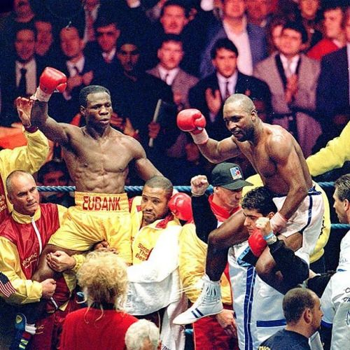 #OnThisDay: Bitter rivals #NigelBenn and #ChrisEubank fought to a draw: http://www.boxingnewsonline.net/on-this-day-bitter-rivals-nigel-benn-and-chris-eubank-fought-to-a-draw/ 👉🏻LINK IN BIO🔝 #boxing #BoxingNews #BennEubank (at Old Trafford)