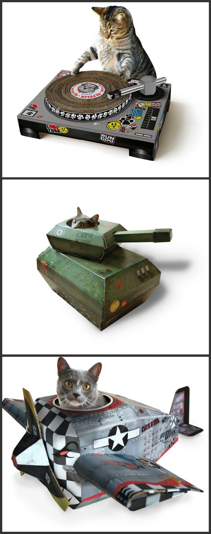 Best Cat Houses Images On Pinterest Cat Houses Cardboard Cat - This company makes cardboard tanks houses and planes for cats and theyre perfect