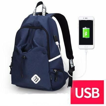 Fashion Student College Backpack With USB Charging Blue Fashion Student College Backpack With USB Charging Black  Fashion Waterproof Backpack  Laptop Guy For Him School notebook external charge Vintage Bag awesome For sale gift ideas Products Shops Store Website online shopping internet links gift fashion Auhashop.com  For Modern Student Ideas School Accessories Cool Fashion Gift ideas