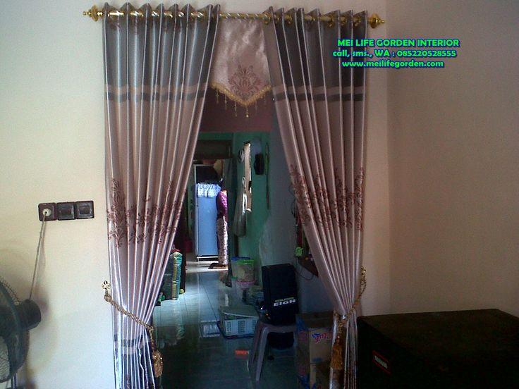 gorden sekat ruangan gorden pembatas ruang tamu dan ruang tengah