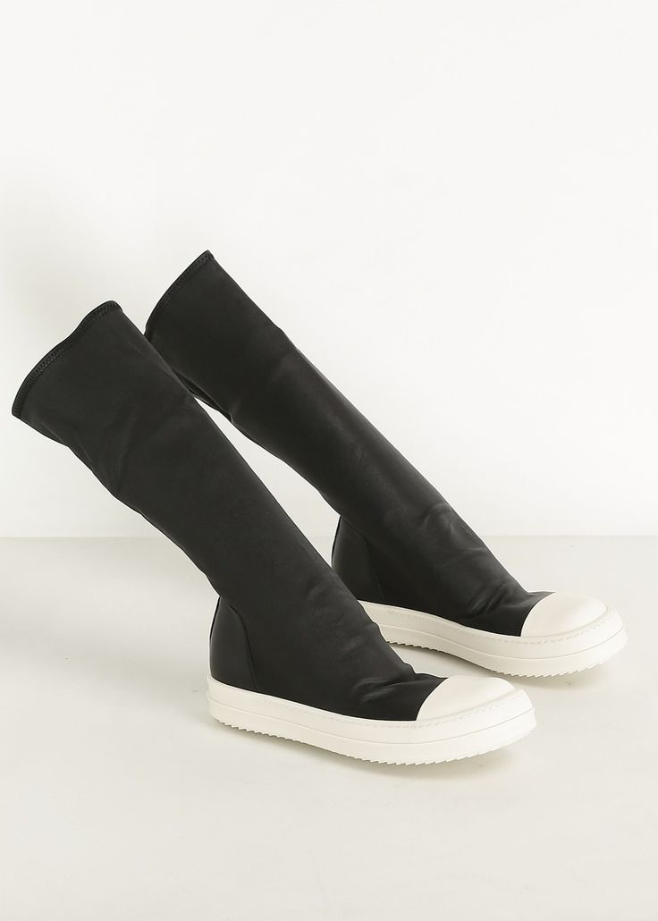 Rick Owens Sock Sneakers (Black / White)