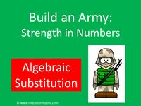 Build an Army: Algebraic Substitution - Resources - TES