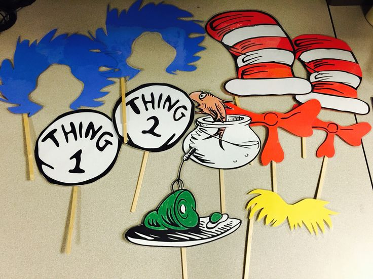 """Dr. Seuss photo booth props  """"Photo ops & props"""""""