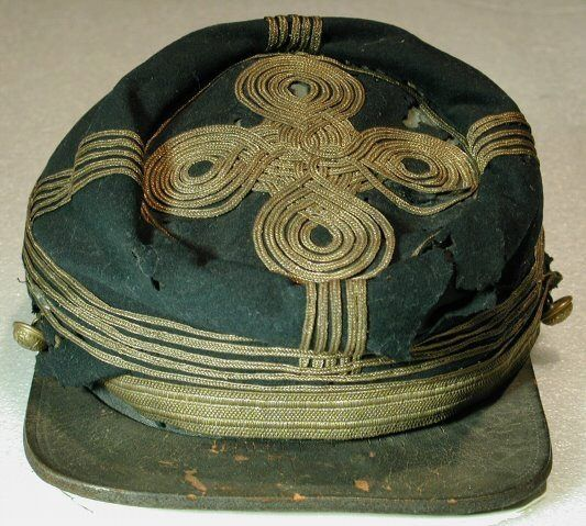 Gen.Patrick Cleburne's Kepi/cap from the Battle of Franklin,in Franklin Williamson Co.Tenn.where he was killed.it is now at the Tenn.State Museum,in Nashville,Tenn.